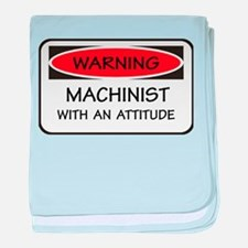 Attitude Machinist baby blanket