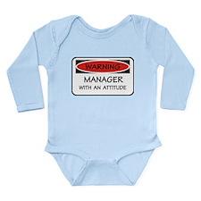 Attitude Manager Long Sleeve Infant Bodysuit