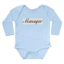 Vintage Manager Long Sleeve Infant Bodysuit