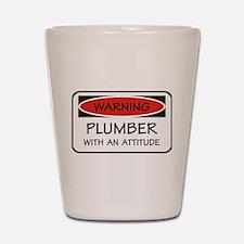 Attitude Plumber Shot Glass