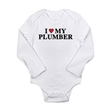 I Love My Plumber Long Sleeve Infant Bodysuit