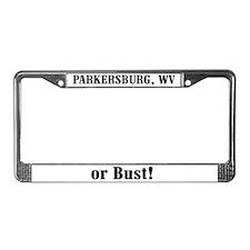 Parkersburg or Bust! License Plate Frame