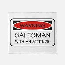 Attitude Salesman Throw Blanket