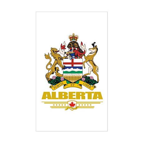 Alberta Coat of Arms Sticker (Rectangle)