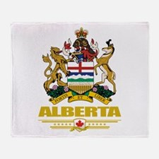 Alberta Coat of Arms Throw Blanket