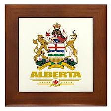Alberta Coat of Arms Framed Tile