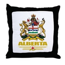 Alberta Coat of Arms Throw Pillow