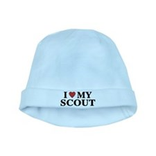 I Love My Scout baby hat
