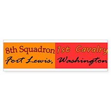 8th Squadron 1st Cavalry Bumper Sticker