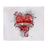 Heart Taxi Driver Throw Blanket