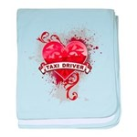 Heart Taxi Driver baby blanket