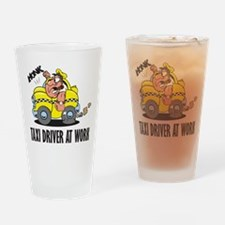 Taxi Driver At Work Pint Glass