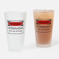 Attitude Veterinarian Pint Glass