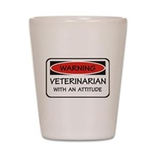 Attitude Veterinarian Shot Glass