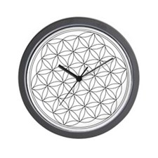 Flower Of Life Symbol Wall Clock