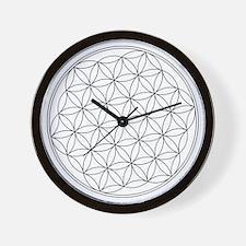 Flower Of Life Symbol Wall Clock