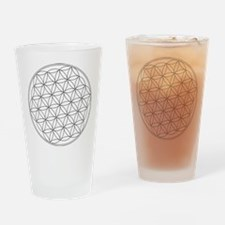 Flower Of Life Symbol Pint Glass