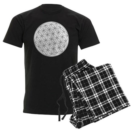 Flower Of Life Symbol Men's Dark Pajamas
