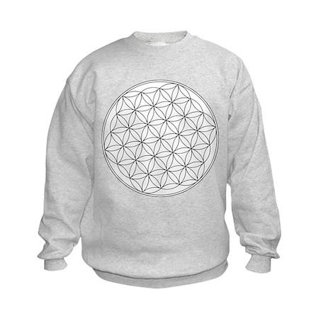 Flower Of Life Symbol Kids Sweatshirt