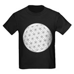 Flower Of Life Symbol Kids Dark T-Shirt