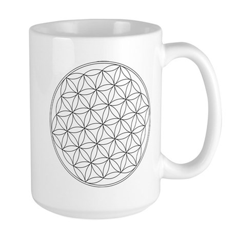 Flower Of Life Symbol Large Mug