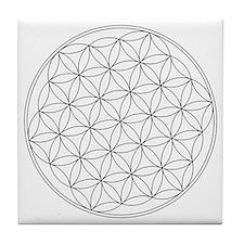 Flower Of Life Symbol Tile Coaster