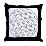 Flower Of Life Symbol Throw Pillow