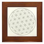 Flower Of Life Symbol Framed Tile
