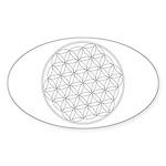 Flower Of Life Symbol Sticker (Oval 10 pk)