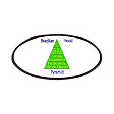 Brazilian Food Pyramid Patches