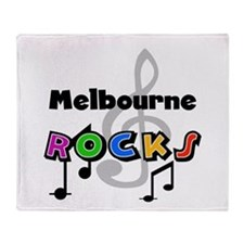 Melbourne Rocks Throw Blanket