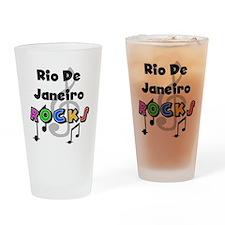 Rio de Janeiro Rocks Pint Glass