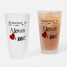 Akron Loves Me Pint Glass