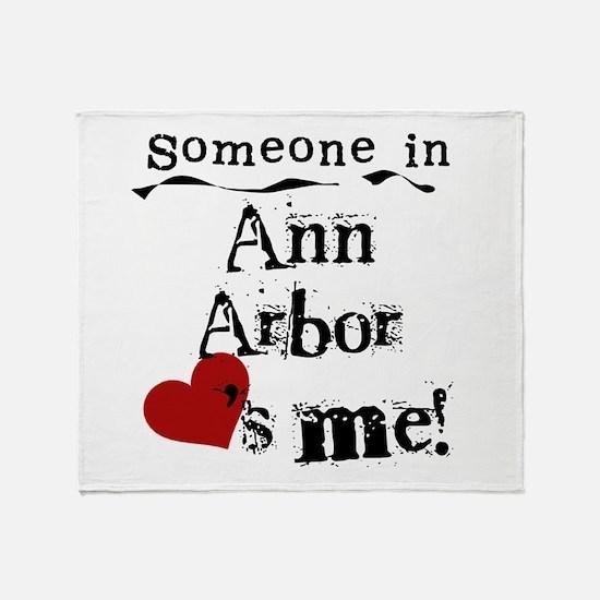 Ann Arbor Loves Me Throw Blanket