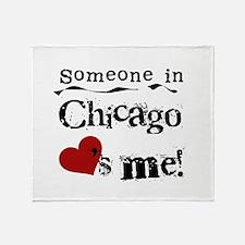 Chicago Loves Me Throw Blanket