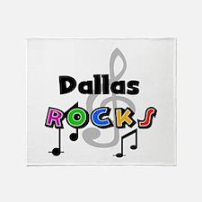 Dallas Rocks Throw Blanket