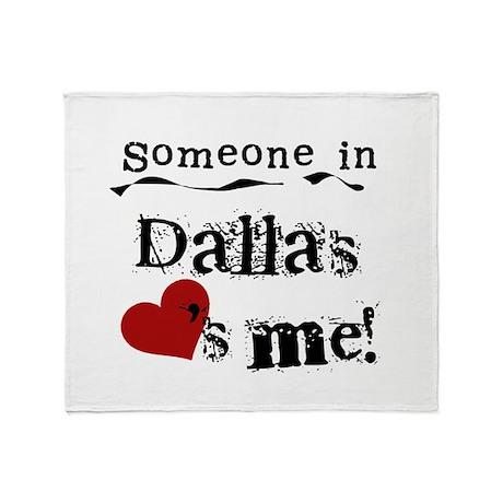 Dallas Loves Me Throw Blanket