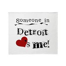 Detroit Loves Me Throw Blanket