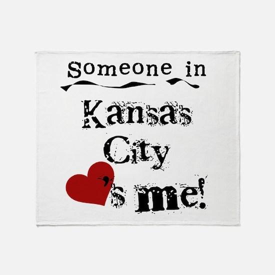Kansas City Loves Me Throw Blanket