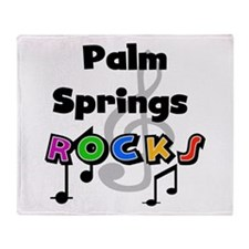 Palm Springs Rocks Throw Blanket