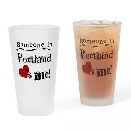 Portland Loves Me Pint Glass
