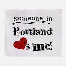 Portland Loves Me Throw Blanket