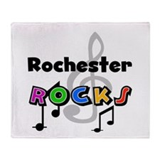 Rochester Rocks Throw Blanket