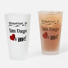 Someone in San Diego Loves Me Drinking Glass