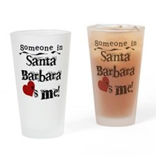 Santa Barbara Loves Me Pint Glass