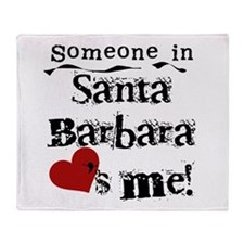 Santa Barbara Loves Me Throw Blanket