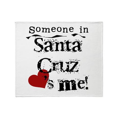 Santa Cruz Loves Me Throw Blanket