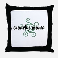 Crunchy mama Throw Pillow