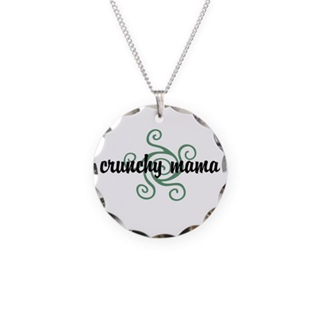 Crunchy mama Necklace Circle Charm