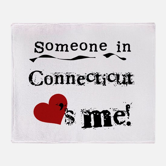 Someone in Connecticut Throw Blanket